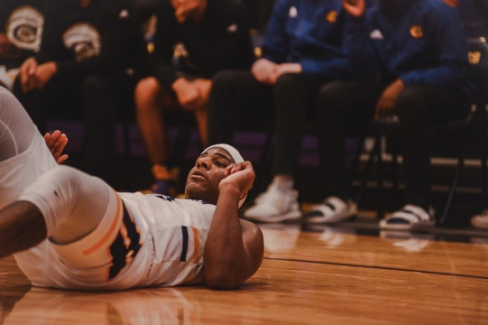 Hickman endured a heartbreaking loss against Webster Groves on Saturday, Feb. 9, 2019. The game was held at Hickman. Liz Goodwin/Missourian