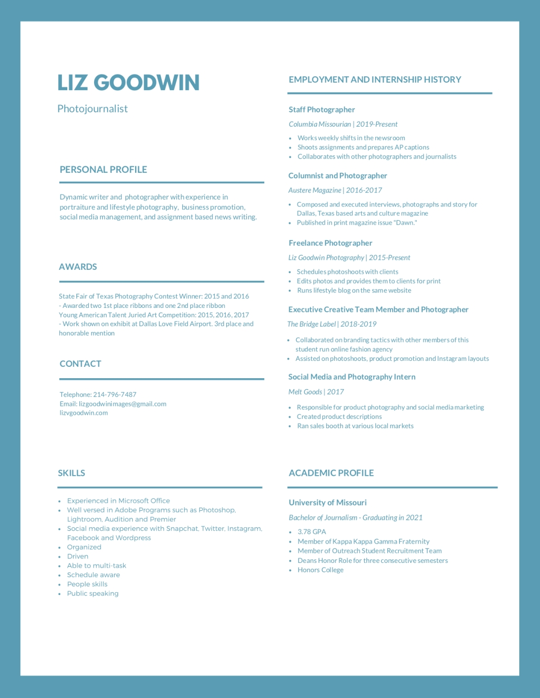 Liz Goodwin Resume - Feb 2019