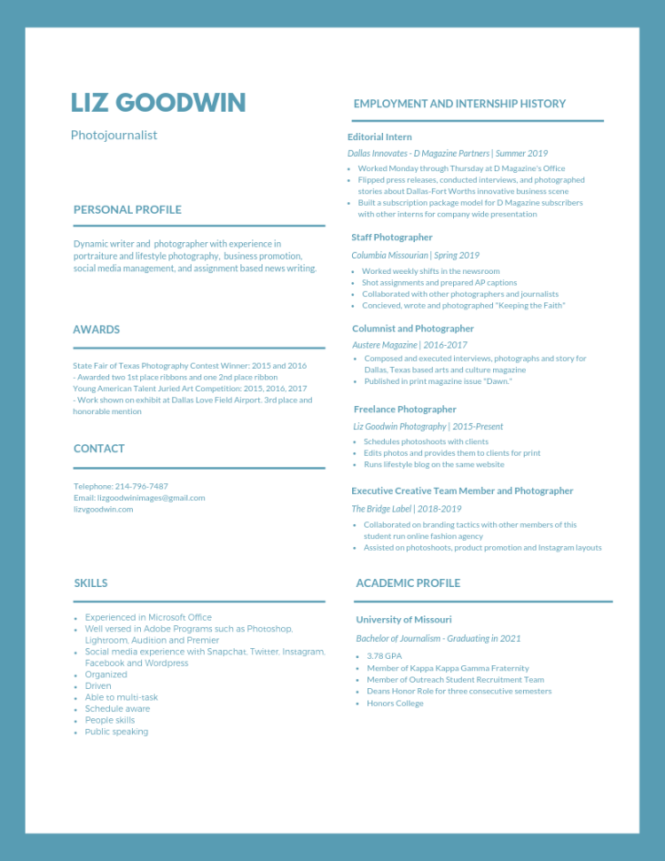 Liz Goodwin Resume - August 2019